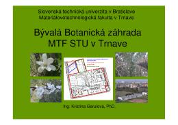 Botanicka zahrada - prezentacia pre školy