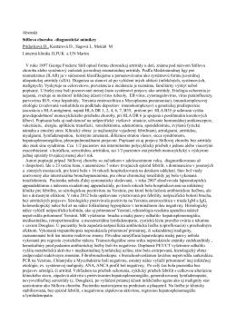 Abstrakt Stillova choroba –diagnostické mimikry Prídavková
