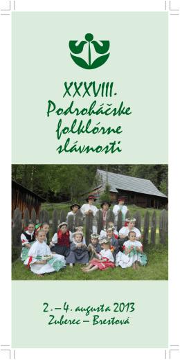 Bulletin XXXVIII. Podroháčskych folklórnych slávností