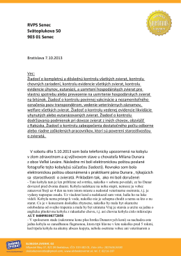 RVPS Senec Svätoplukova 50 903 01 Senec