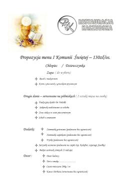 Oferta fotoreportażu uroczystości Pierwszej Komunii Świętej
