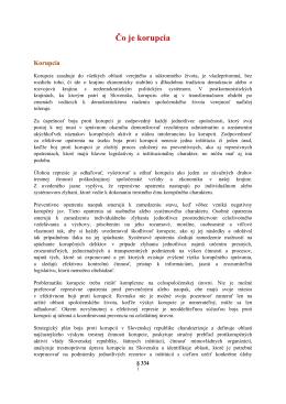 Čo je korupcia - Správa štátnych hmotných rezerv Slovenskej
