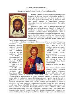 Vo svetle pravoslávnych ikon VI.