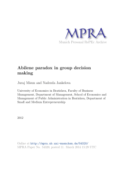 Abilene paradox in group decision making