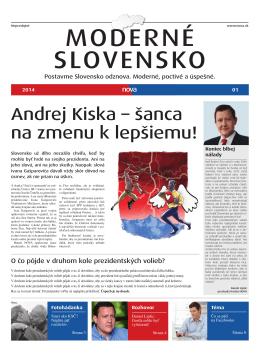 Andrej Kiska – šanca na zmenu k lepšiemu!