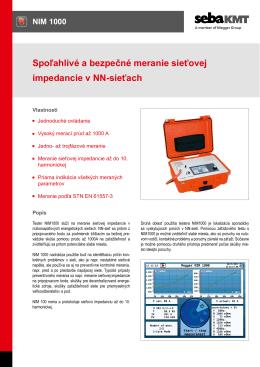 Spoľahlivé a bezpečné meranie sieťovej impedancie v