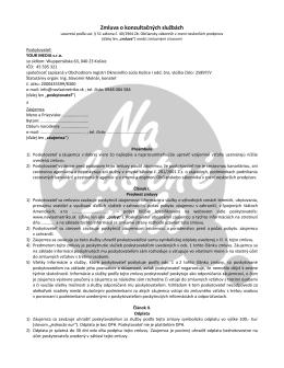 Pozri si zmluvu o konzultačných službách