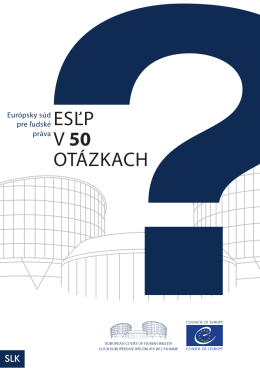 The ECHR in 50 questions (Slovak)