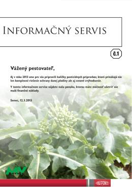 Informačný servis 1 - MV