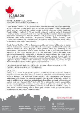 Technický list CR® S 700