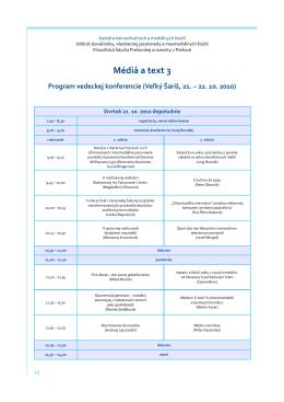 Médiá a text 3 - Inštitút slovakistických, mediálnych a knižničných štúdií