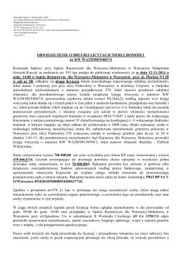 Km 432/12 - Komornik Sądowy Piotr Winter