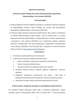 XII International English Language Competition Wyniki drugiego