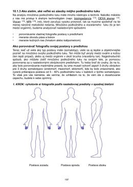 Analýza podkožného tuku