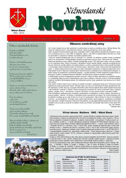 Nižnoslanské noviny 1-2013
