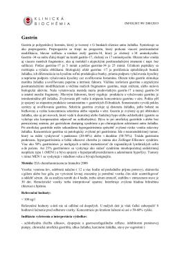 Gastrín - KLINICKÁ BIOCHÉMIA sro