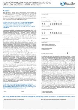 registračný formulár k doplnkovému poisteniu