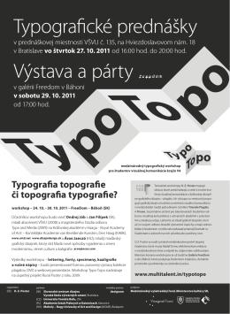 Typografické prednášky Výstava a párty