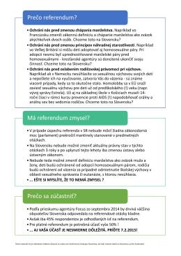 Leták referenda o rodine - DaR