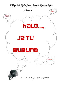 Časopis Haló, je tu bublina