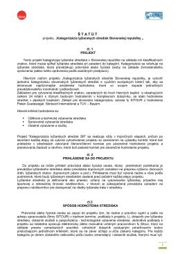 Štatút projektu kategorizácie lyžiarskych stredísk SR (pdf)