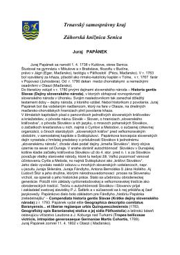 Juraj Papánek - bibliografický leták