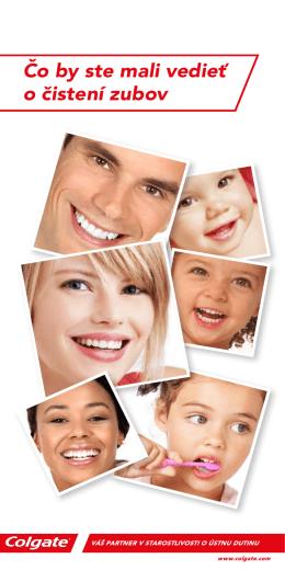 Čo by ste mali vedieť o čistení zubov