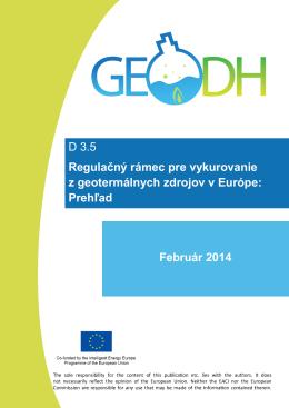 D 3.5 Regulačný rámec pre vykurovanie z geotermálnych