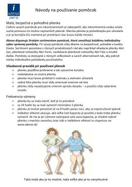 Ilustrované návody na používanie pomôcok Abri San