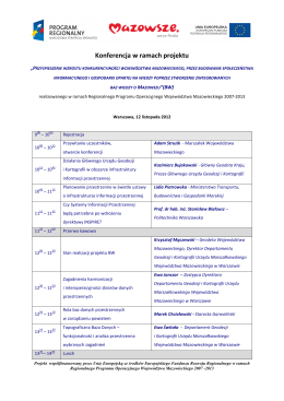 Program konferencji 2014 r.