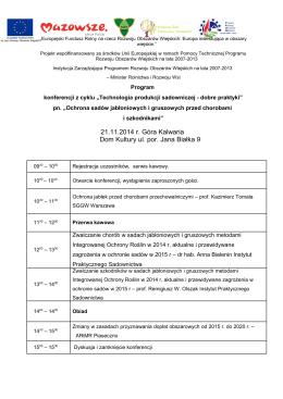 Program konferencji. - Kancelaria Prawna A&RT Rynkowska