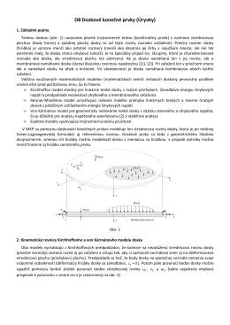 D8. Doskové prvky. Kirchhoffov a von Kármánov model dosky