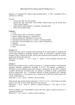 Zápisnica 8. zasadanie