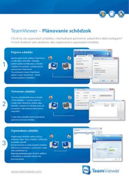 TeamViewer – Plánovanie schôdzok