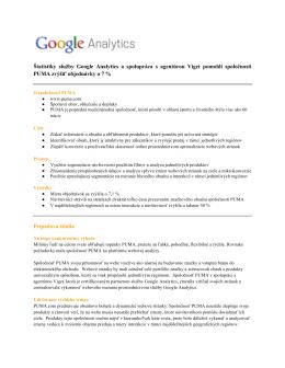Štatistiky služby Google Analytics a spolupráca s