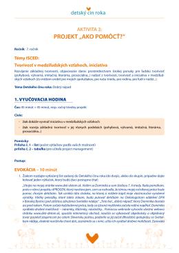 "Aktivita 3: Projekt ""Ako pomôcť?"" (PDF)"