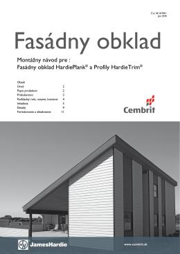 Fasádny obklad HardiePlank® a Profily HardieTrim