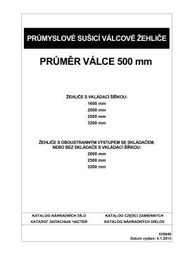 PRŮMĚR VÁLCE 500 mm
