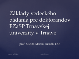 prof. MUDr. Martin Rusnák, CSc