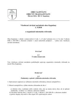 VZN č. 5/2010 o organizácii miestného referenda (PDF
