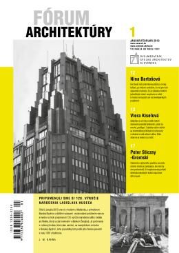 forum 1_13.pdf - Spolok architektov Slovenska