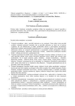Všeobecne záväzné nariadenie mesta Zvolen č