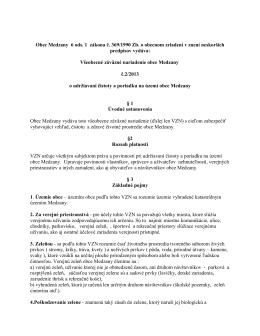 VZN č. 2/2013 o udržiavaní čistoty a poriadku na