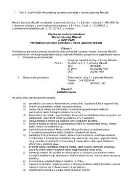 - 1- VZN č. 4/2011/VZN Prevádzkový poriadok pohrebísk v