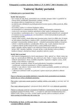 Pedagogická a sociálna akadémia, Bullova 2, 844