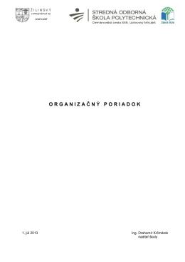 organizačný poriadok vii.2013