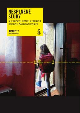 Neschopnosť ukončiť segregáciu rómskych žiakov na Slovensku