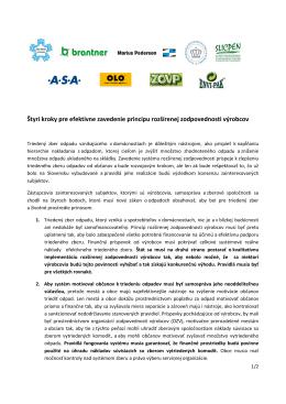 Štyri kroky pre efektívne zavedenie princípu rozšírenej