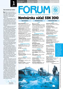 1 - Slovenský syndikát novinárov