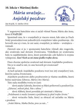 10. katechéza